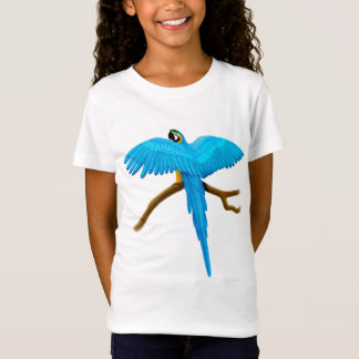 Blue and Gold Macaw Girls Baby Doll T-Shirt