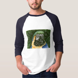 Blue and Gold Macaw Men's basic 3/4 Raglan T-Shirt