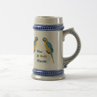 Blue and Gold Macaw Stein