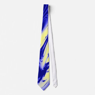 Blue and Gold Marble Designer Neck Tie