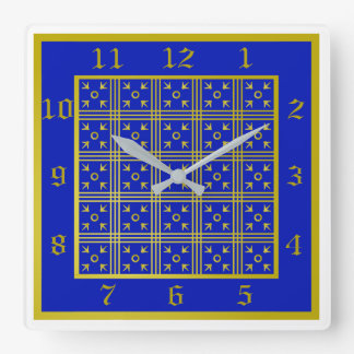 Blue and Gold Medieval Clock