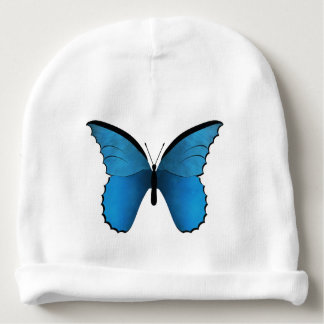 Blue and Golden Butterflies Baby Beanie
