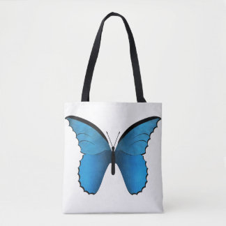 Blue and Golden Butterflies Tote Bag