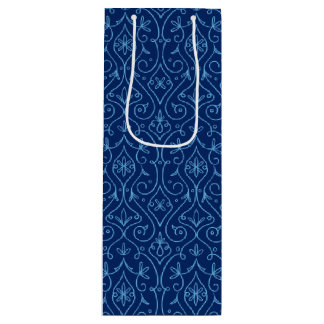 Blue and Golden Decorative Hanukkah Wine Gift Bag