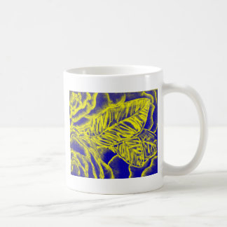 Blue and Golden Yellow Flowers Coffee Mug