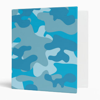 Blue and Gray Camo Design 3 Ring Binders