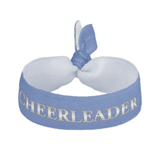 Blue and Gray Cheerleader's Head Band Hair Tie