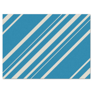 Blue and Gray Striped Tissue Paper