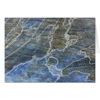 Blue And Gray Wood Grain Card