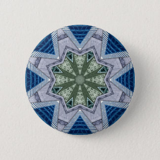 Blue And Green Abstract 2 Inch Round Button