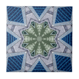 Blue And Green Abstract Ceramic Tile