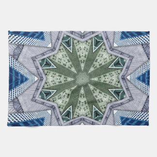 Blue And Green Abstract Kitchen Towel