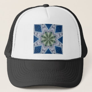 Blue And Green Abstract Trucker Hat