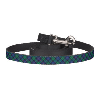 Blue and Green Armstrong Clan Scottish Plaid Pet Leash