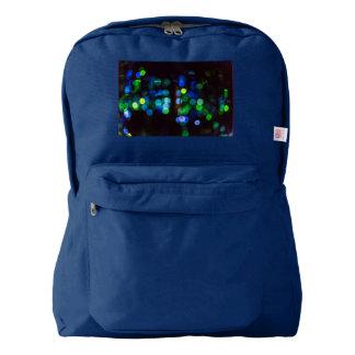Blue and Green Bokeh Backpack - American Apparel