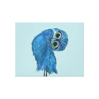 Blue and Green Burrowing Owl Decor