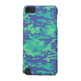 Blue and Green Camo iPod Touch 5G Cases