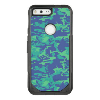 Blue and Green Camo OtterBox Commuter Google Pixel Case