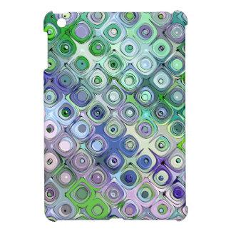 Blue And Green Circles Pattern iPad Mini Cases