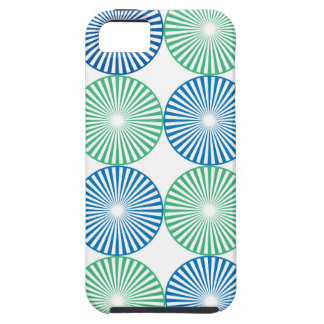 Blue and green circular design iPhone 5 case