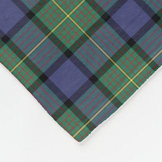Blue and Green Clan Muir and Moore Scottish Tartan Fleece Blanket