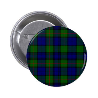 Blue and Green Clan Murray Tartan 2 Inch Round Button