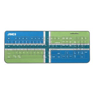Blue and Green Color Block Wireless Keyboard