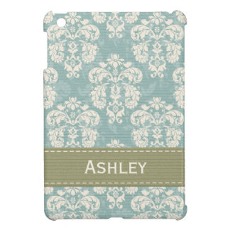 Blue and Green Damask Case For The iPad Mini