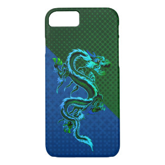 Blue and Green Dragon iPhone 7 Case