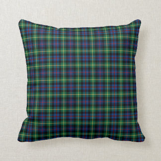 Blue and Green Farquharson Clan Scottish Plaid Throw Pillow