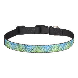 Blue and Green Fleur-De-Lis Dog or cat Collar