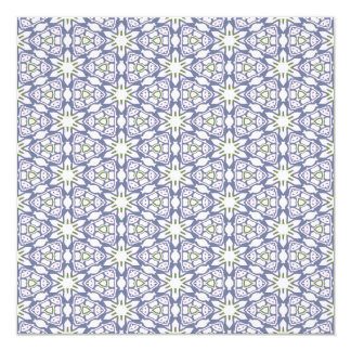 Blue and Green Floral Pattern Card