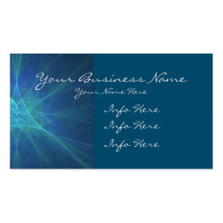 Blue And Green Fractal Business Card