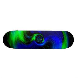 Blue and Green Galaxy Custom Skateboard