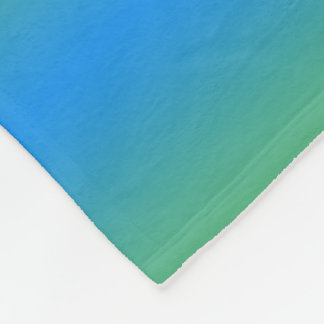 Blue And Green Gradient Fleece Blanket
