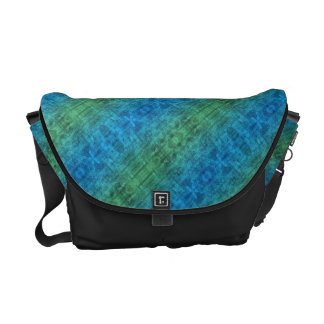 Blue And Green Gradient Messenger Bags