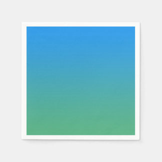 Blue And Green Gradient Paper Napkins