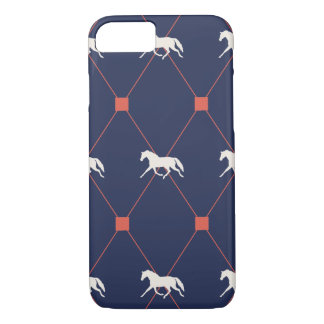 Blue and Green Harleqiun Trotting Horse Pattern iPhone 7 Case