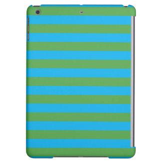Blue and Green Horizontal Stripes iPad Air Case
