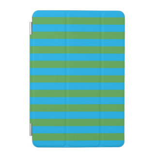 Blue and Green Horizontal Stripes iPad Mini Cover