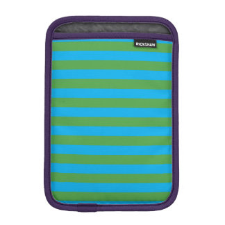 Blue and Green Horizontal Stripes iPad Mini Sleeve