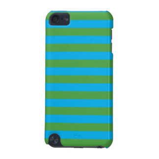 Blue and Green Horizontal Stripes iPod Touch (5th Generation) Cases