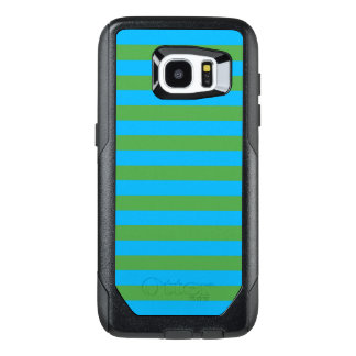 Blue and Green Horizontal Stripes OtterBox Samsung Galaxy S7 Edge Case