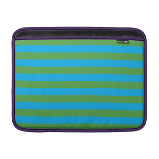 Blue and Green Horizontal Stripes Sleeve For MacBook Air