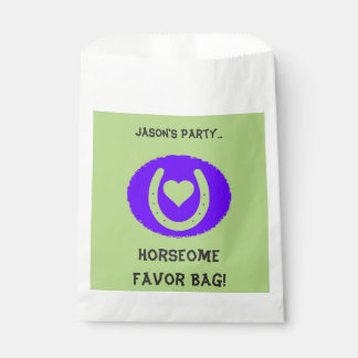 Blue and Green Horseshoe Kids Favour Bag