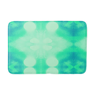 Blue and Green Ikat Bath Mat