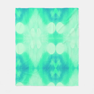 Blue and Green Ikat Blanket