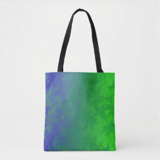 Blue and Green Leaf Shadow Tote Bag
