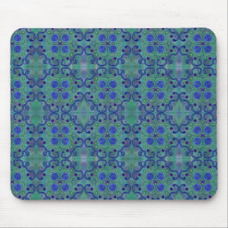 Blue and green mouse pad