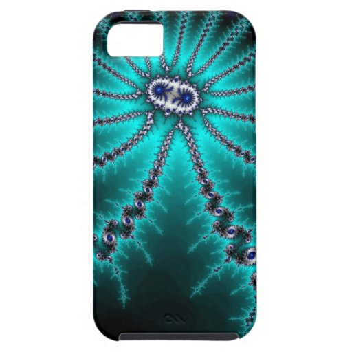Blue and Green Octopus Fractal iPhone 5 Cases